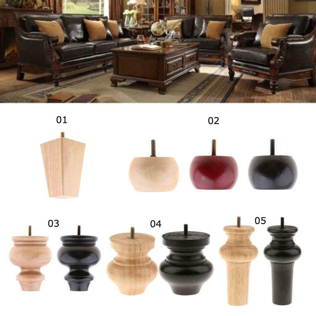 4 Pieces Solid Wooden Furniture Legs Extenders For Sofa Couch Chair Bed Leg 1 Of 1free Shipping See More