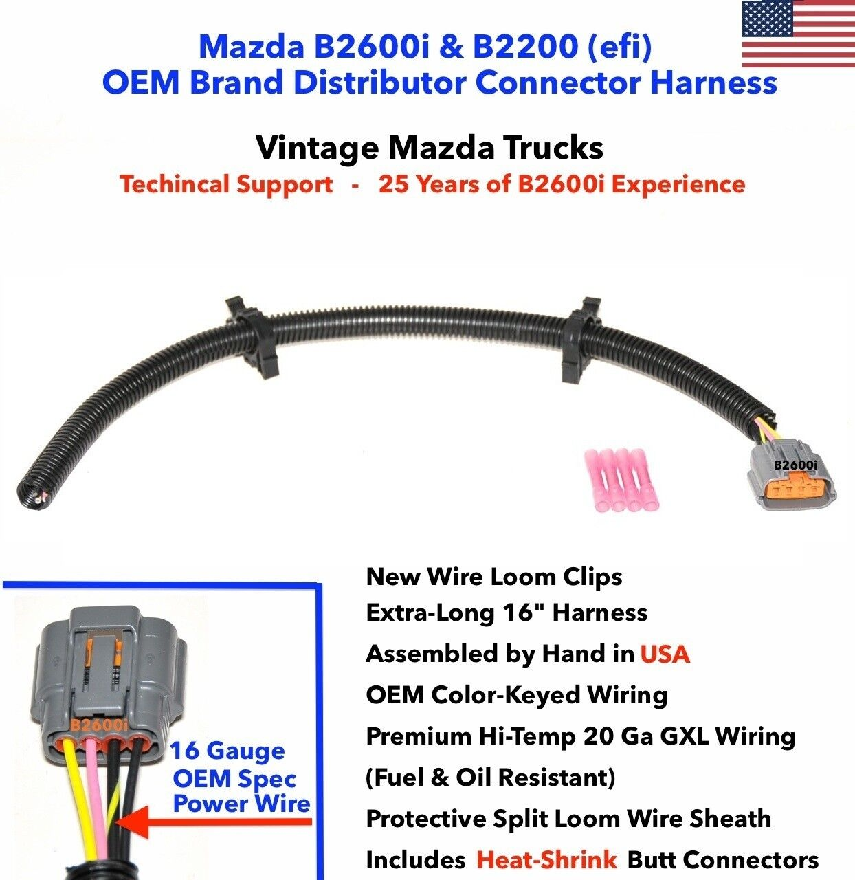 New Oem Mazda B2600i Distributor Connector Plug Repair Harness Obd2 To Obd1 Wiring Diagram 1 Of 2only 5 Available