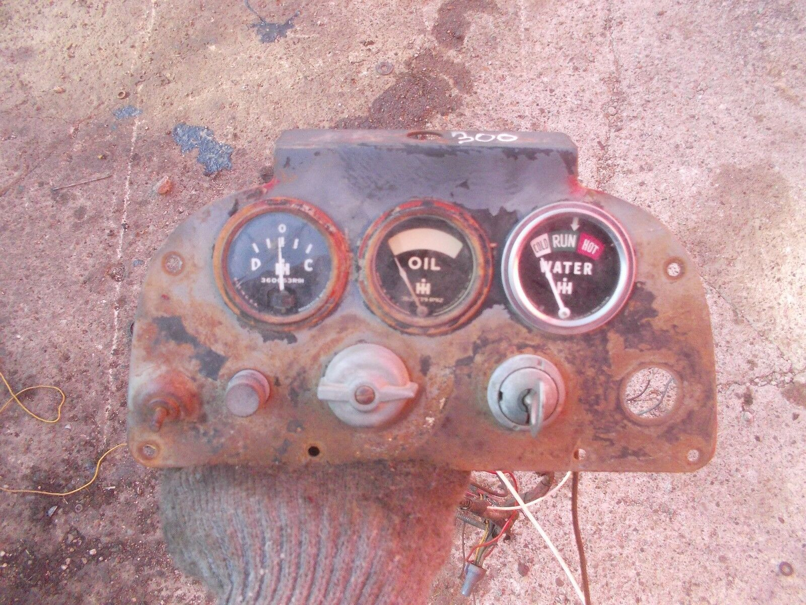 farmall 300 rc tractor dash panel w gauges &orig ignition key farmall super c farmall 300 rc tractor dash panel w gauges &orig ignition key & wiring harness 1 of 7only 1 available see more