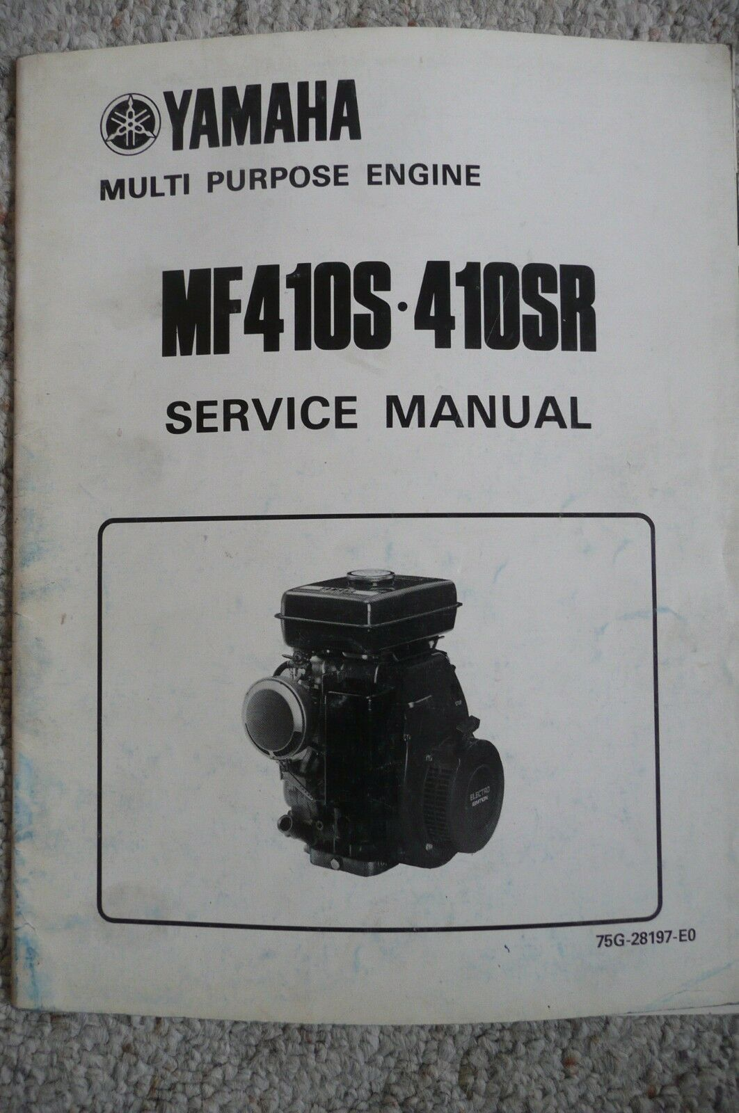 Yamaha MF410S MF410SR Multi Purpose Engine Service Repair Manual OEM 1 of  3Only 1 available See More