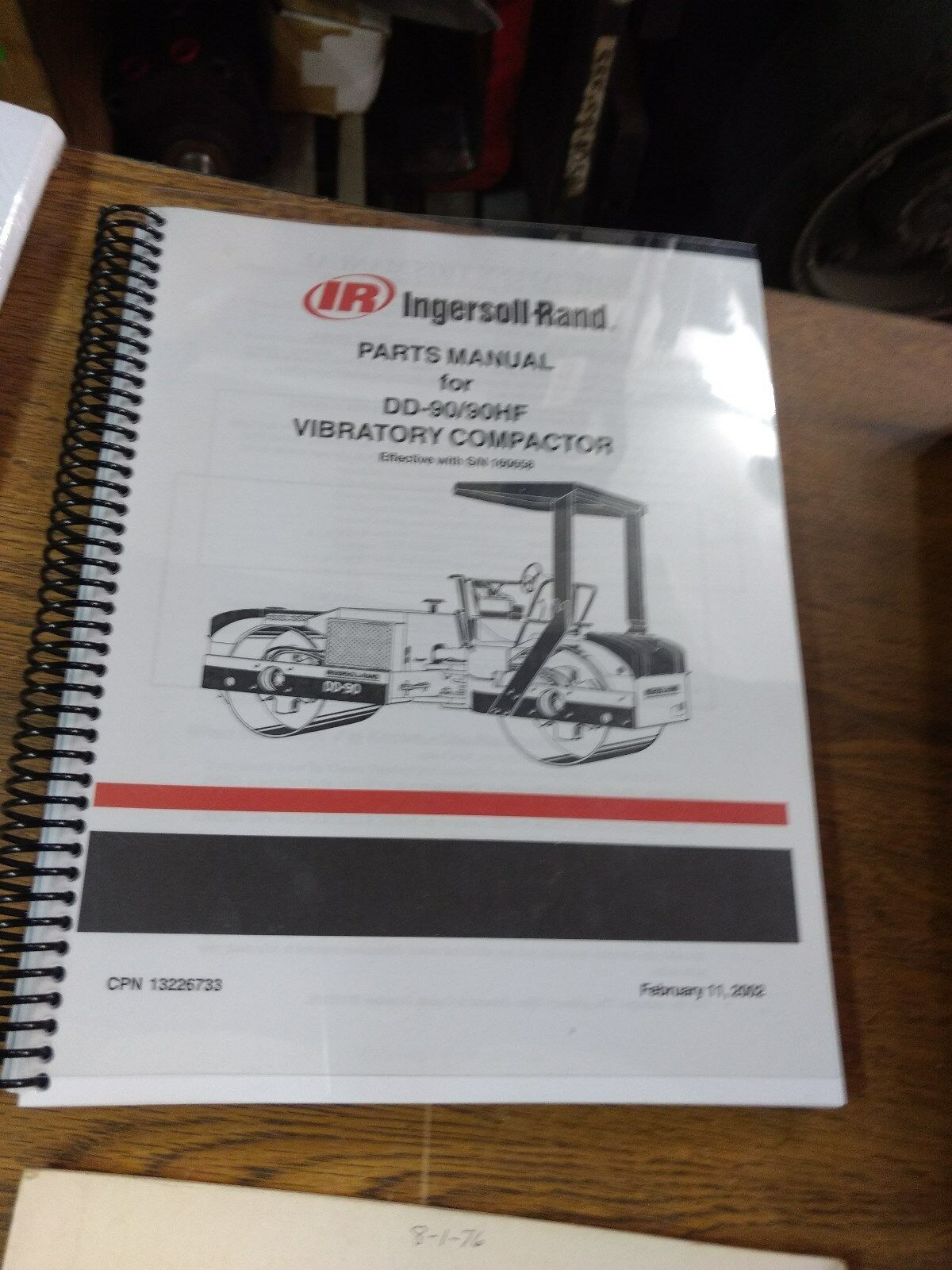 Ingersoll Rand DD-90 90HF Vibratory Compactor Parts Manual 1 of 1FREE  Shipping ...