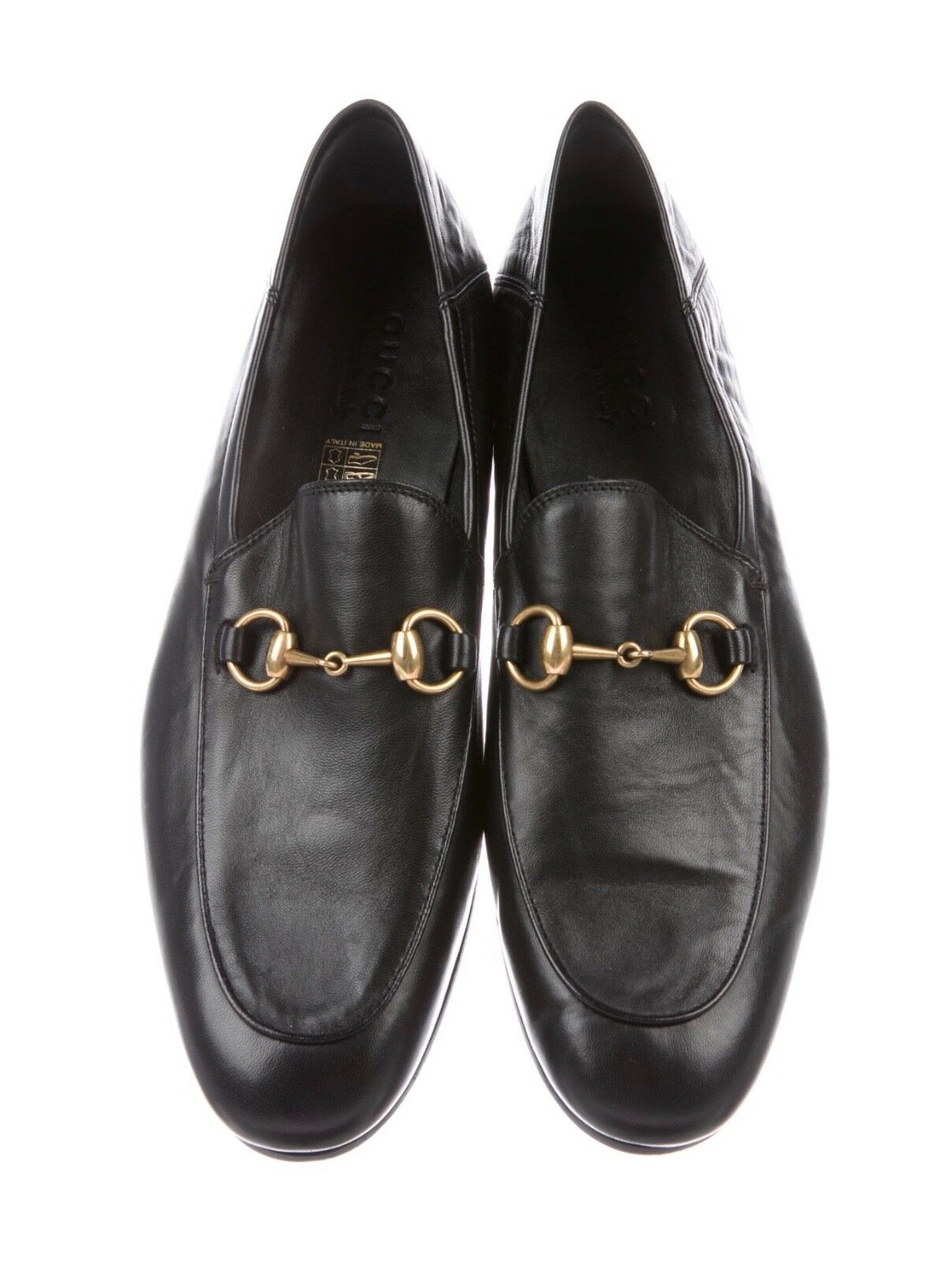 Gucci Brixton Horsebit Loafers Black Leather Shoes 9 Us 85 Uk D Island Casual Zappato England Suede 1 Of 4 See More