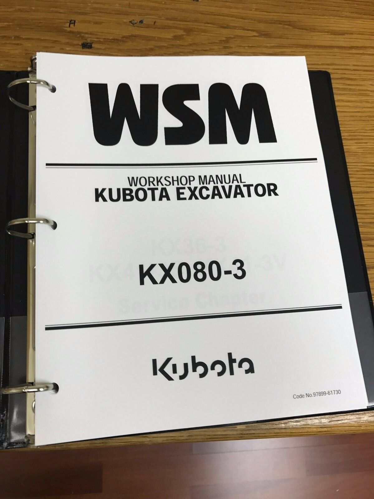 KUBOTA KX080-3 EXCAVATOR Workshop Service Repair Manual BINDER 1 of 1FREE  Shipping ...