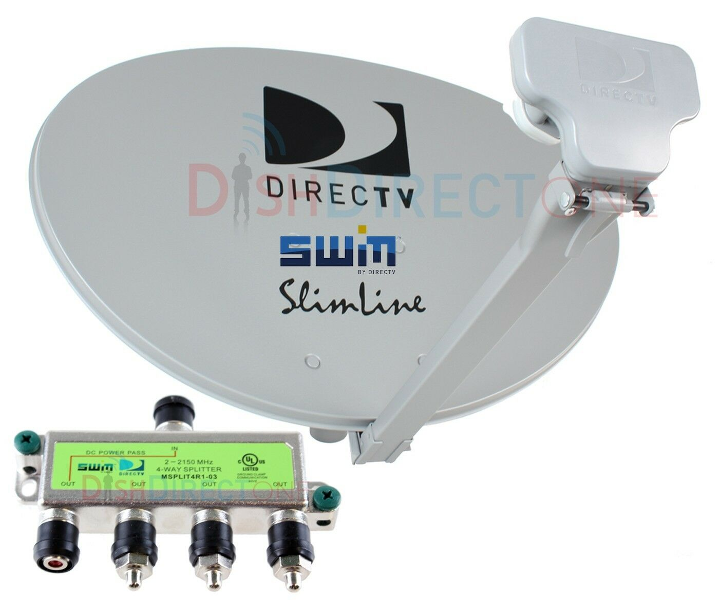 DIRECTV DIRECT TV SWM3 LNB KAKU SlimLine Satellite Dish