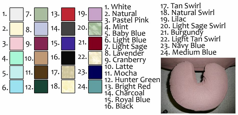 NEW Flannel Massage Table Face Cradle Covers 24 Colors