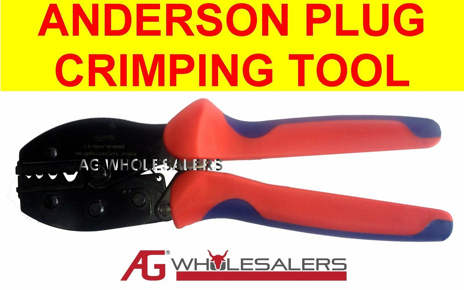 anderson plug non insulated lug crimping tool terminal cable crimp wire aud picclick au. Black Bedroom Furniture Sets. Home Design Ideas