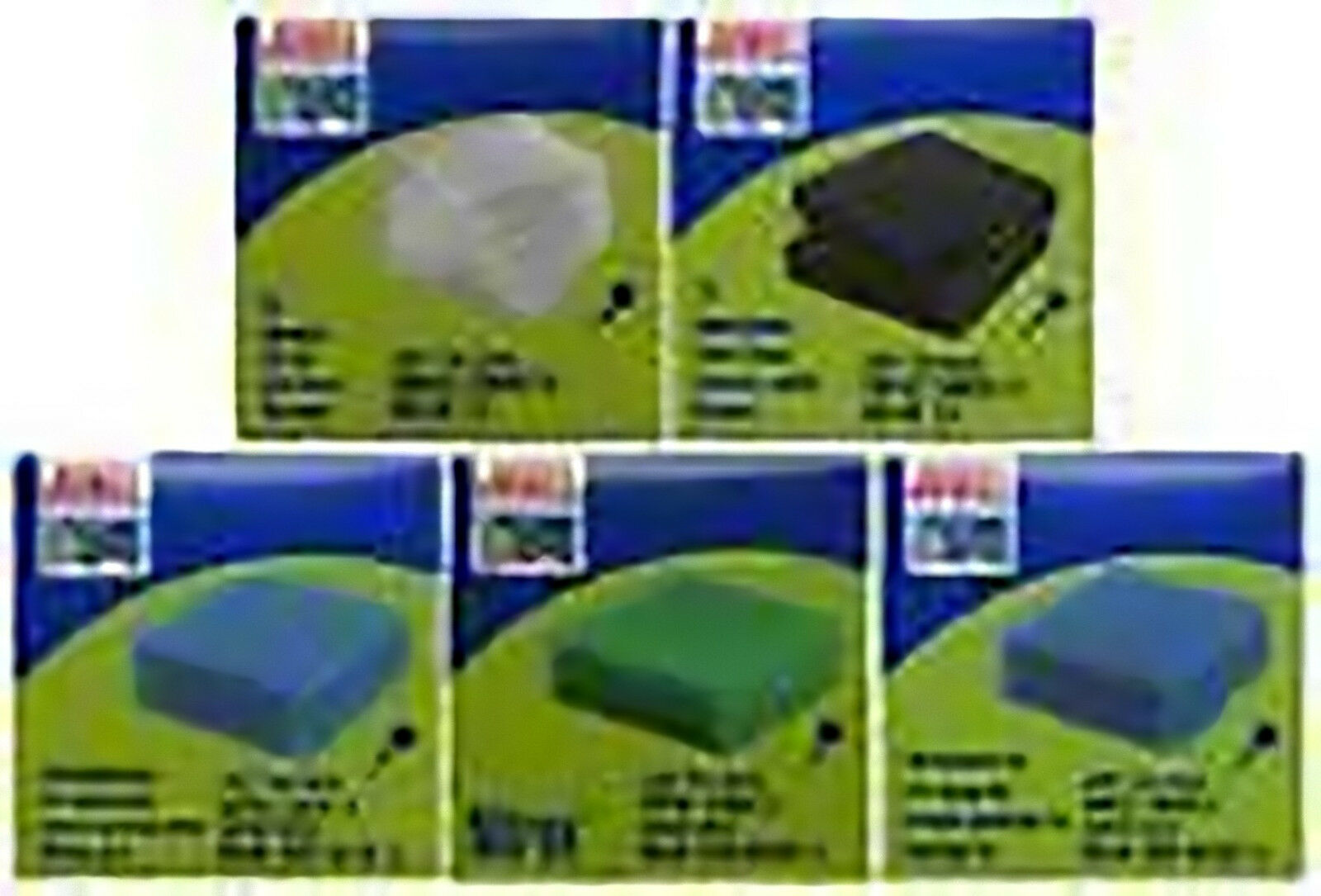 Complete set of Juwel Compact Pads poly carbon fine coarse cirax medium M