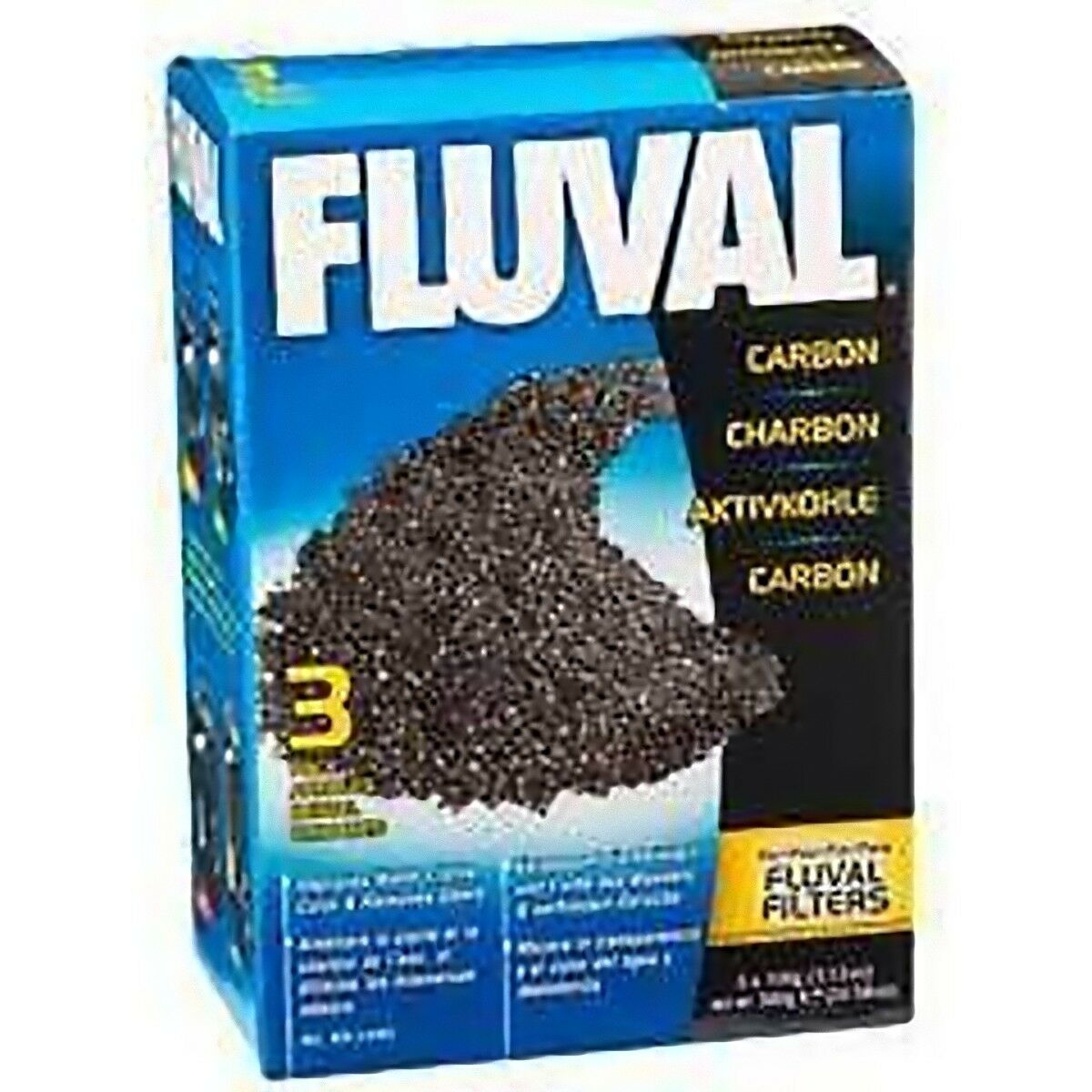 Fluval Activated Filter Carbon 375g Clear Water