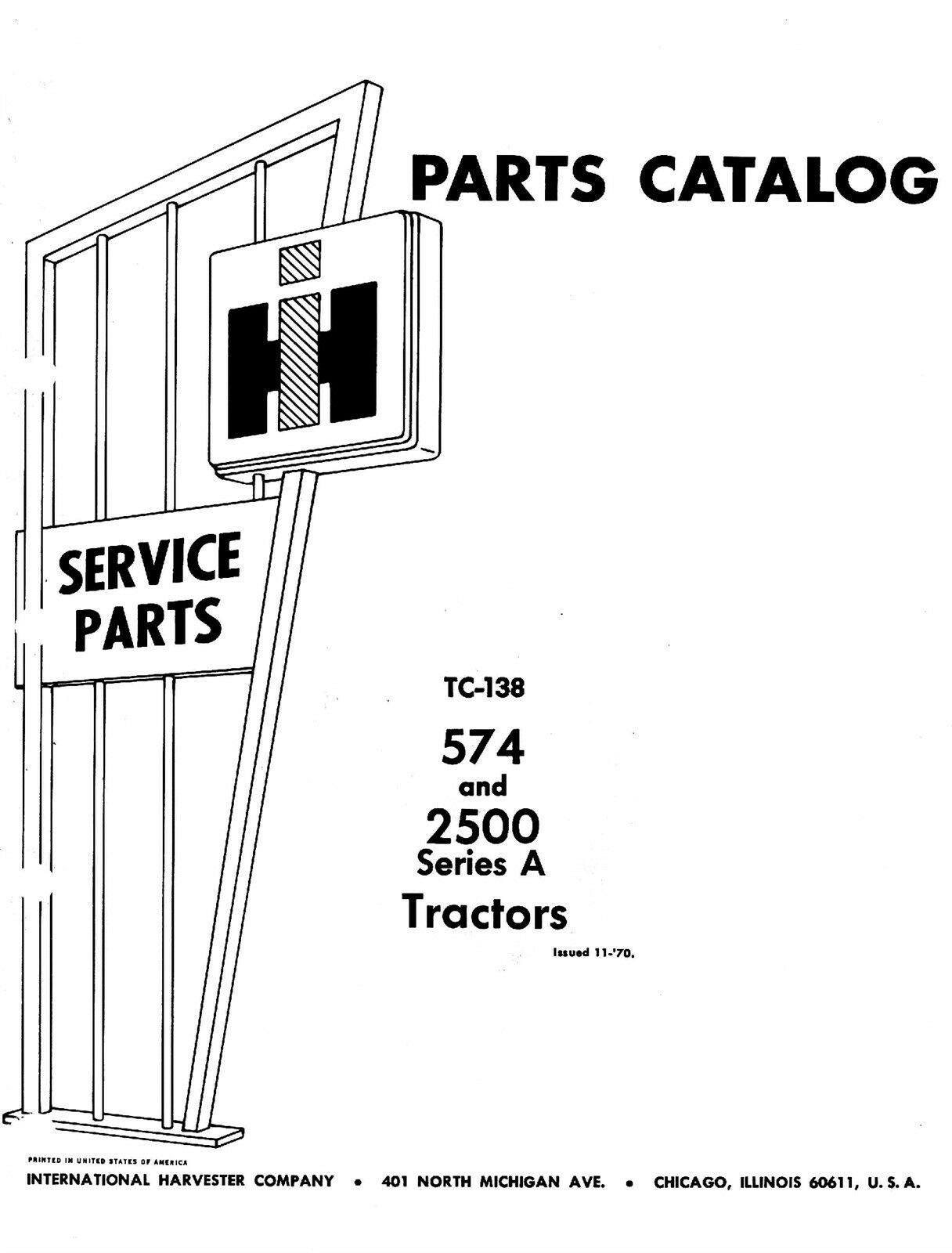 International 574 2500 A 2500A Parts Catalog Manual IH 1 of 1FREE Shipping  See More