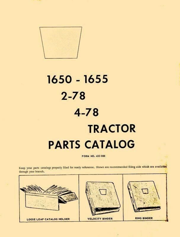 Oliver 1650 1655 278 478 Tractor Parts Catalog Manual 1 Of 1free Shipping: Oliver 1650 Wiring Diagram Ignition At Executivepassage.co