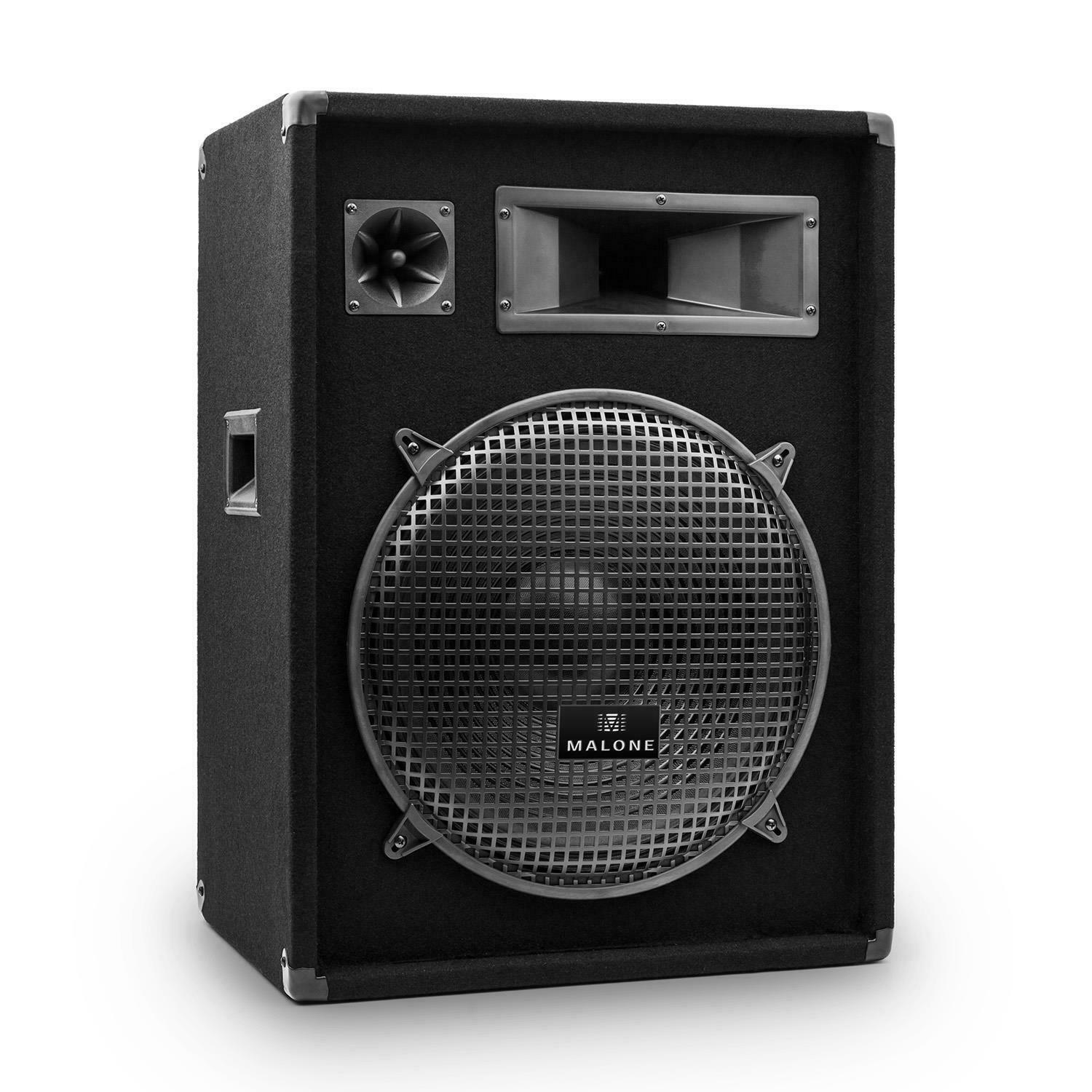 dj pa lautsprecher passiv box 3 wege 38 cm subwoofer. Black Bedroom Furniture Sets. Home Design Ideas
