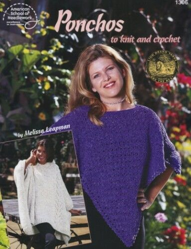 Knitting Or Crocheting Faster : Ponchos to knit or crochet pattern designs £