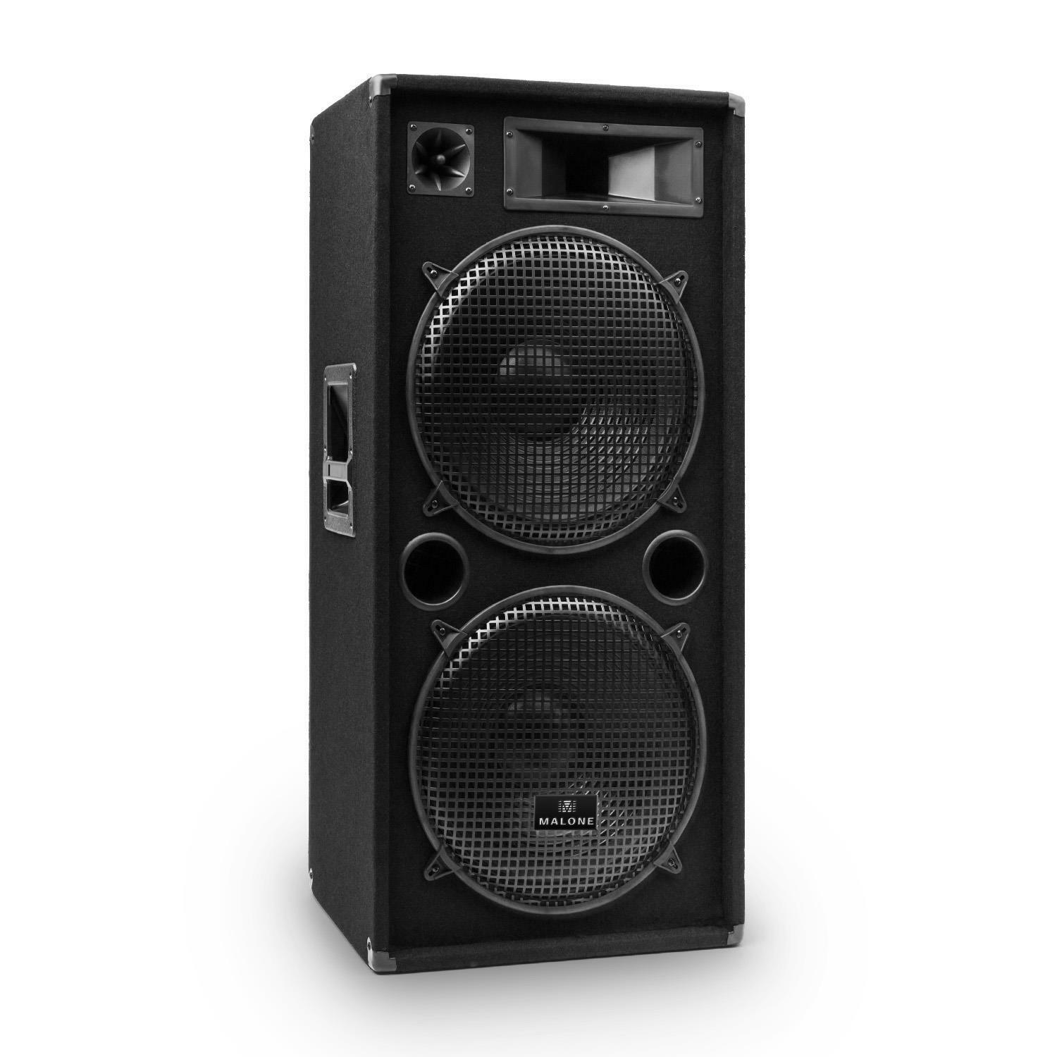 top enceinte sono audio dj pa disco 2 etages 3 voies 2x subwoofer 15 38cm 1500w eur 129 99. Black Bedroom Furniture Sets. Home Design Ideas