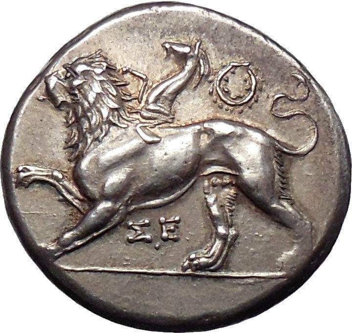 Chimera Dove Silver Greek Coin 400BC  NGC Certified Choice AU*5/55/5 Fine Style
