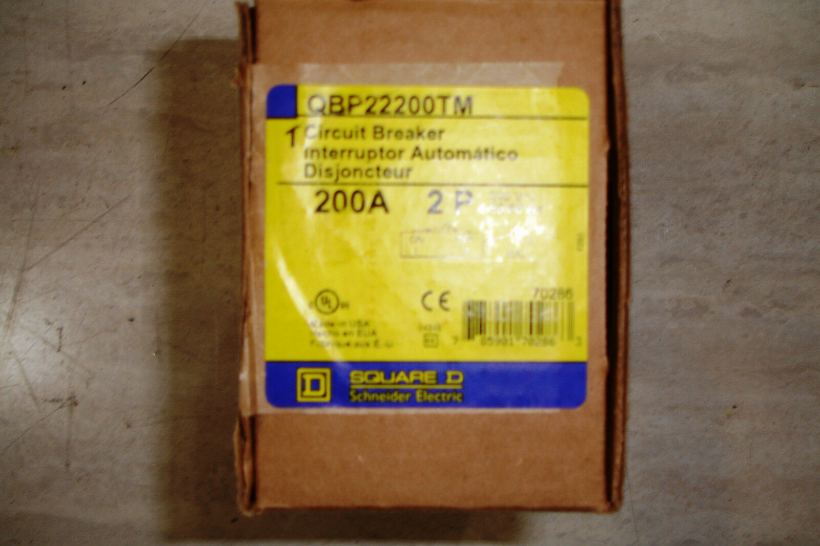 Square D Qbp22200tm 2 Pole 200 Amp Meter Center Main Circuit Breaker Home Residential Zinsco Type R38 Q2m2200mb 1 Of 4only 4 Available See More