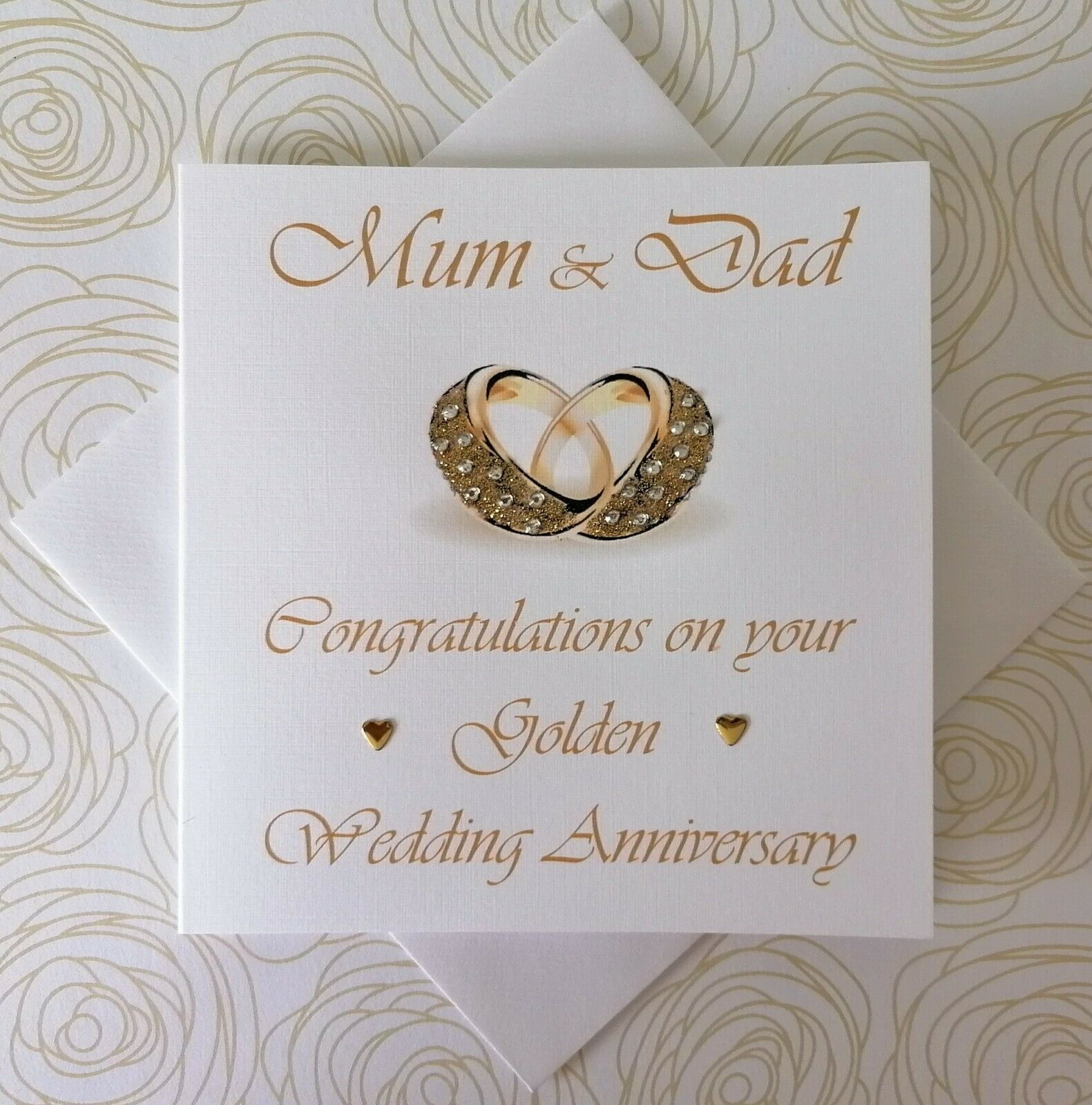 HAPPY GOLDEN WEDDING ANNIVERSARY PERSONALISED CARD HUSBAND WIFE 1ST ...