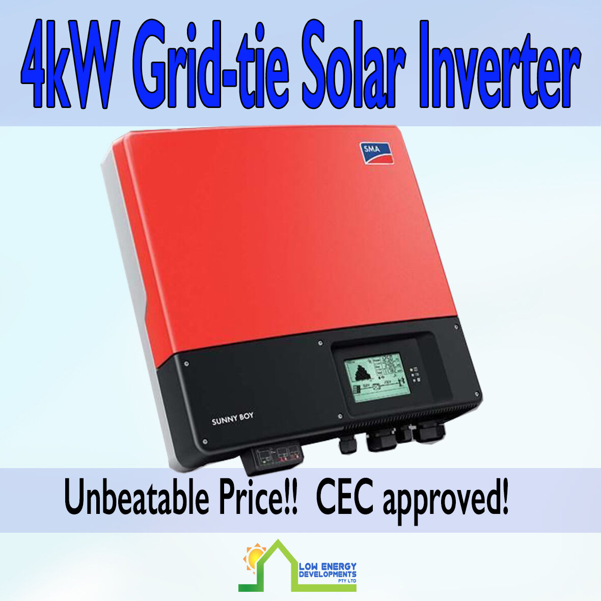 4kw grid tie solar inverter sma sunny boy 4000tl 20. Black Bedroom Furniture Sets. Home Design Ideas