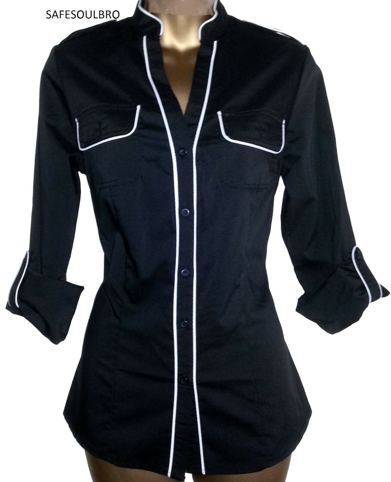 Next Black And White Blouse 105
