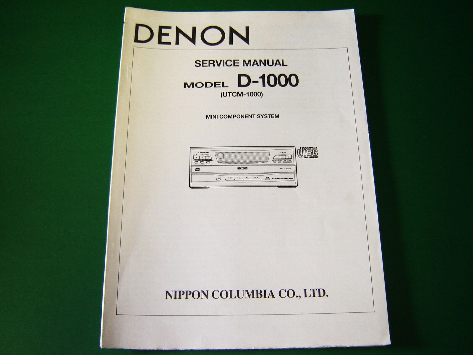 Original Denon D-1000 / UTCM-1000 Service Manual 1 of 1Only 1 available ...