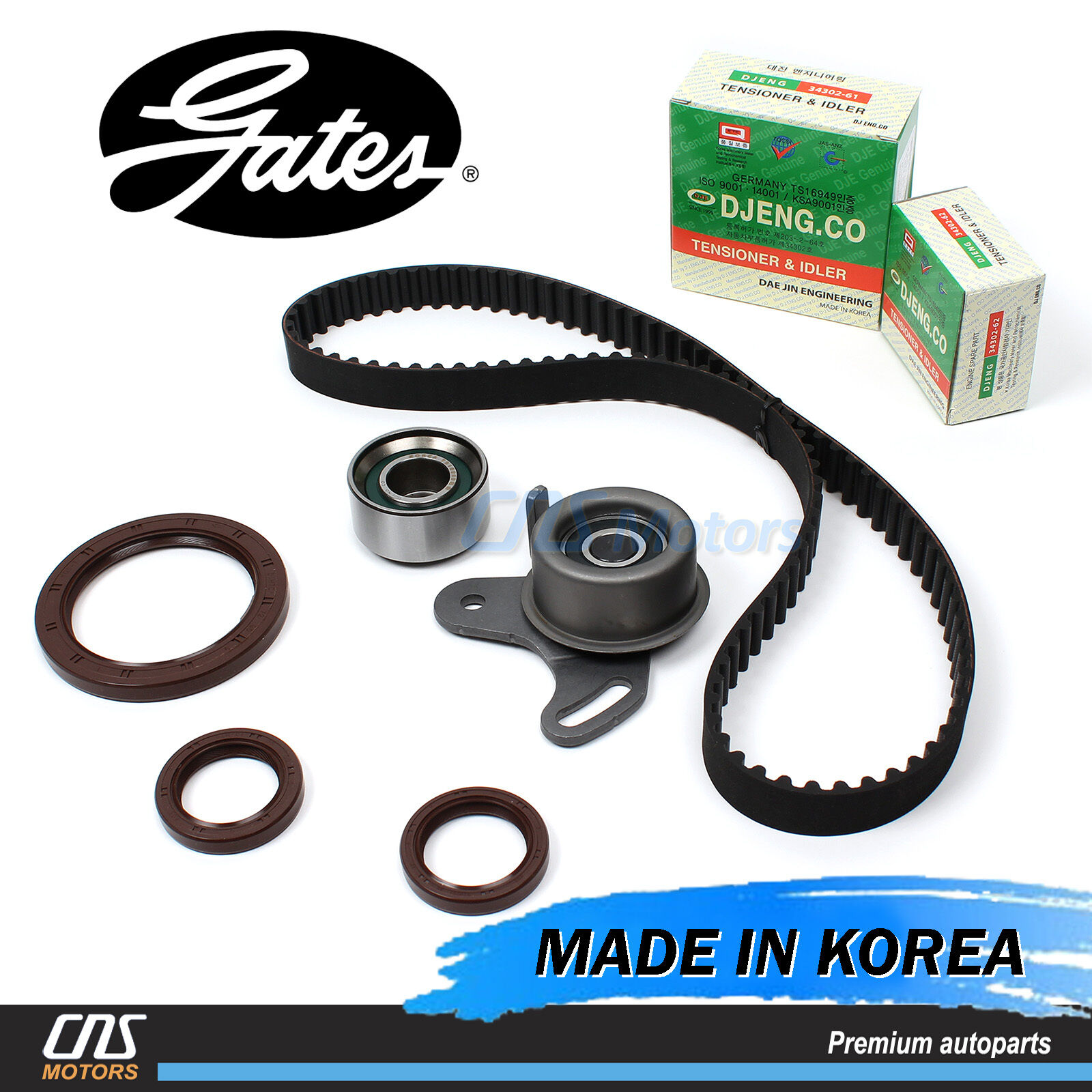 Gates Htd Timing Belt Kit Tensioner Fits 1996 2011 Hyundai Accent Kia Rio Cover 1 Of 2free Shipping