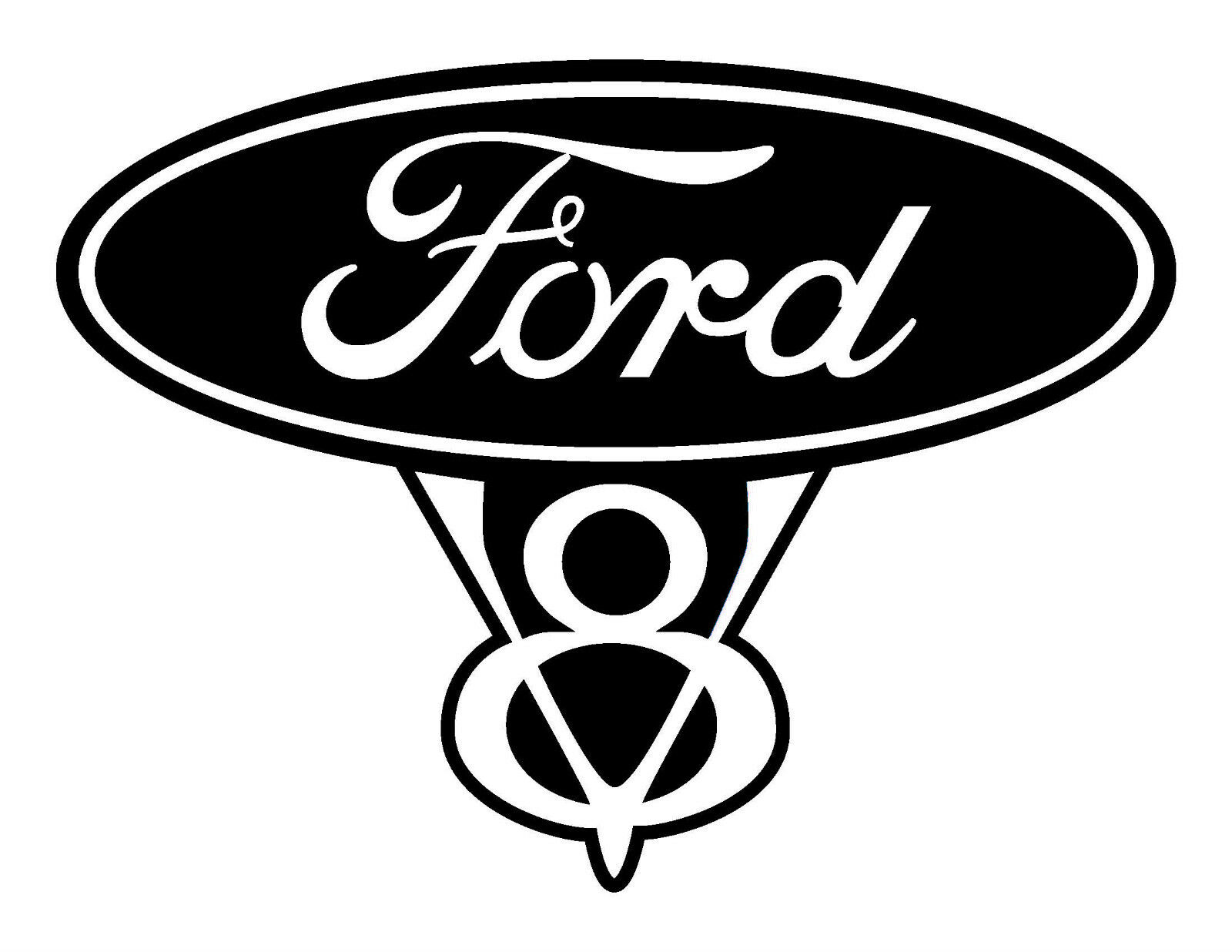 Ford Service Decals : Ford v vinyl decal sticker item a