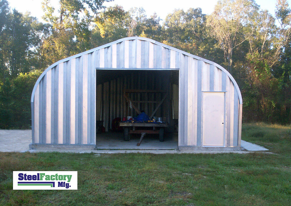 Steel residential metal garage p20x26 two car storage for Residential garage kits
