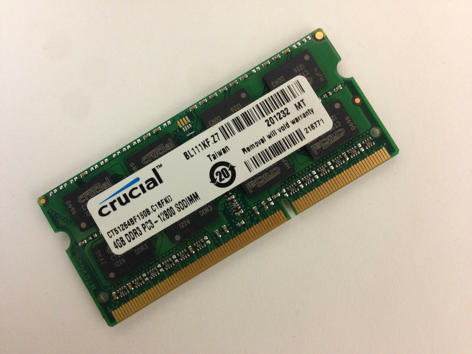 Crucial 4GB DDR3 1600 MHz PC3 1 35V Laptop RAM Sodimm Memory DDR3L 1600 1 of 1FREE Shipping See More