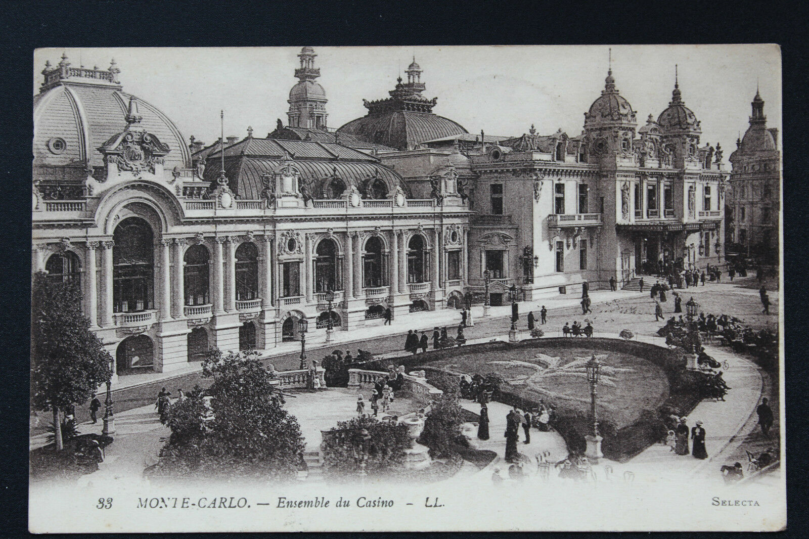 Carte postale ancienne cpa monaco monte carlo ensemble for Porte carte postale sur pied