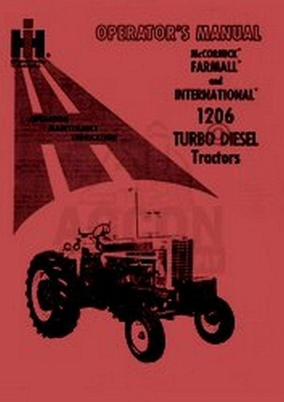 International harvester farmall 1206 diesel tractor owner operators 1 of 1free shipping freerunsca Images