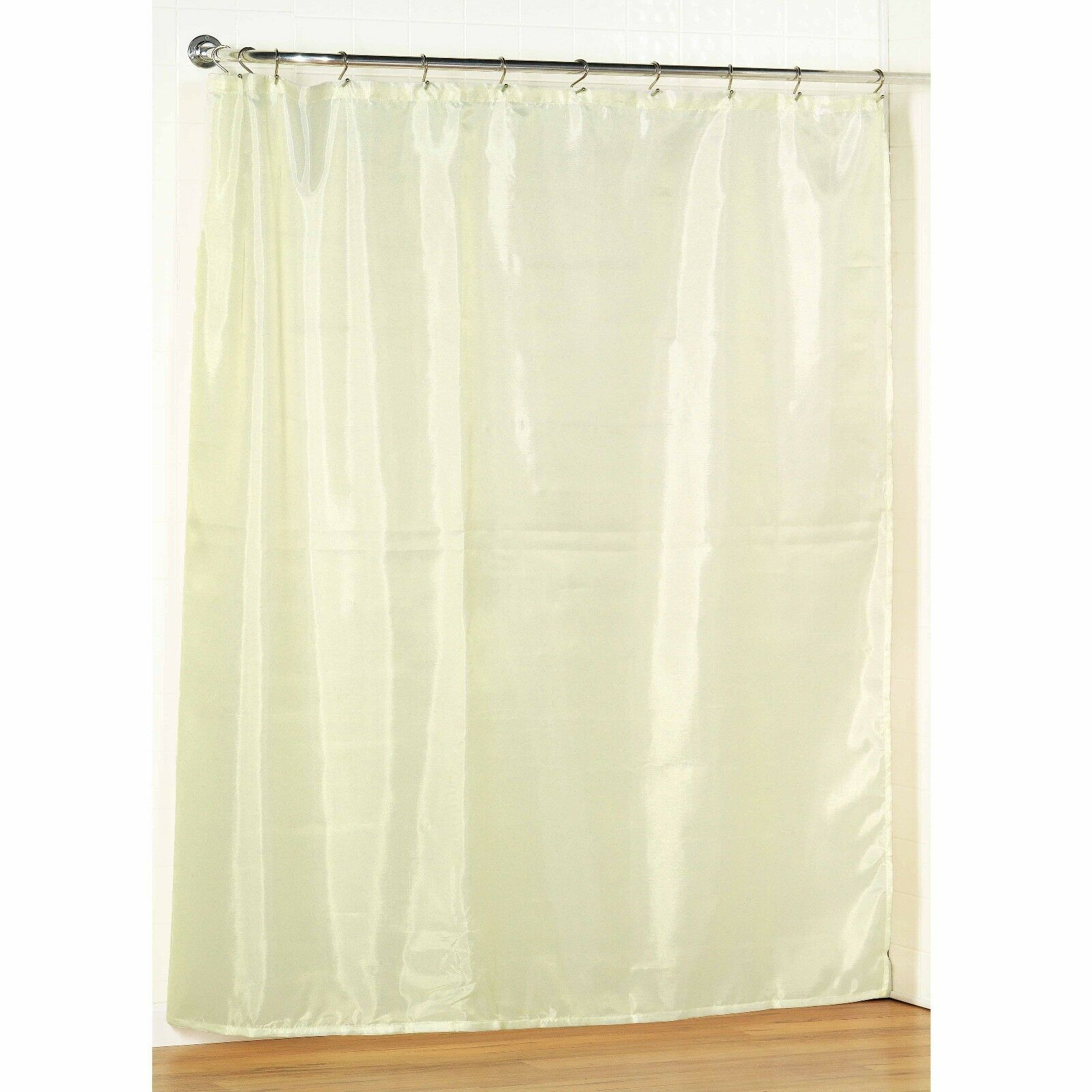 Ivory Fabric Shower Curtain Liner Water Repellent Weight Hem 3 Sizes Picclick