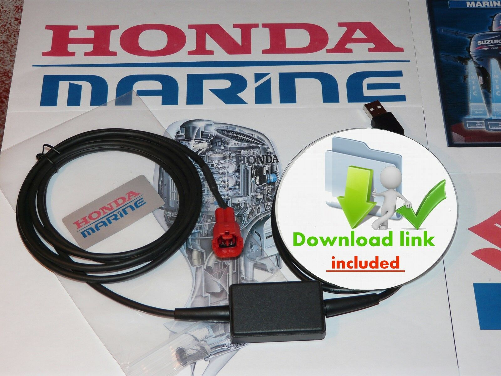 HONDA marine DIAGNOSTIC KIT with Software and Workshop manuals 1 of 11 ...