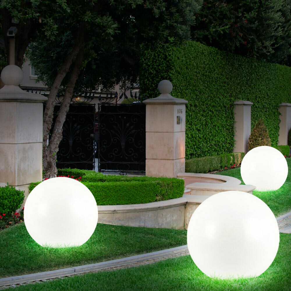 led kugel garten gartenleuchten led kugel rgb farbwechsel 25cm weiss 6er led solarleuchten. Black Bedroom Furniture Sets. Home Design Ideas