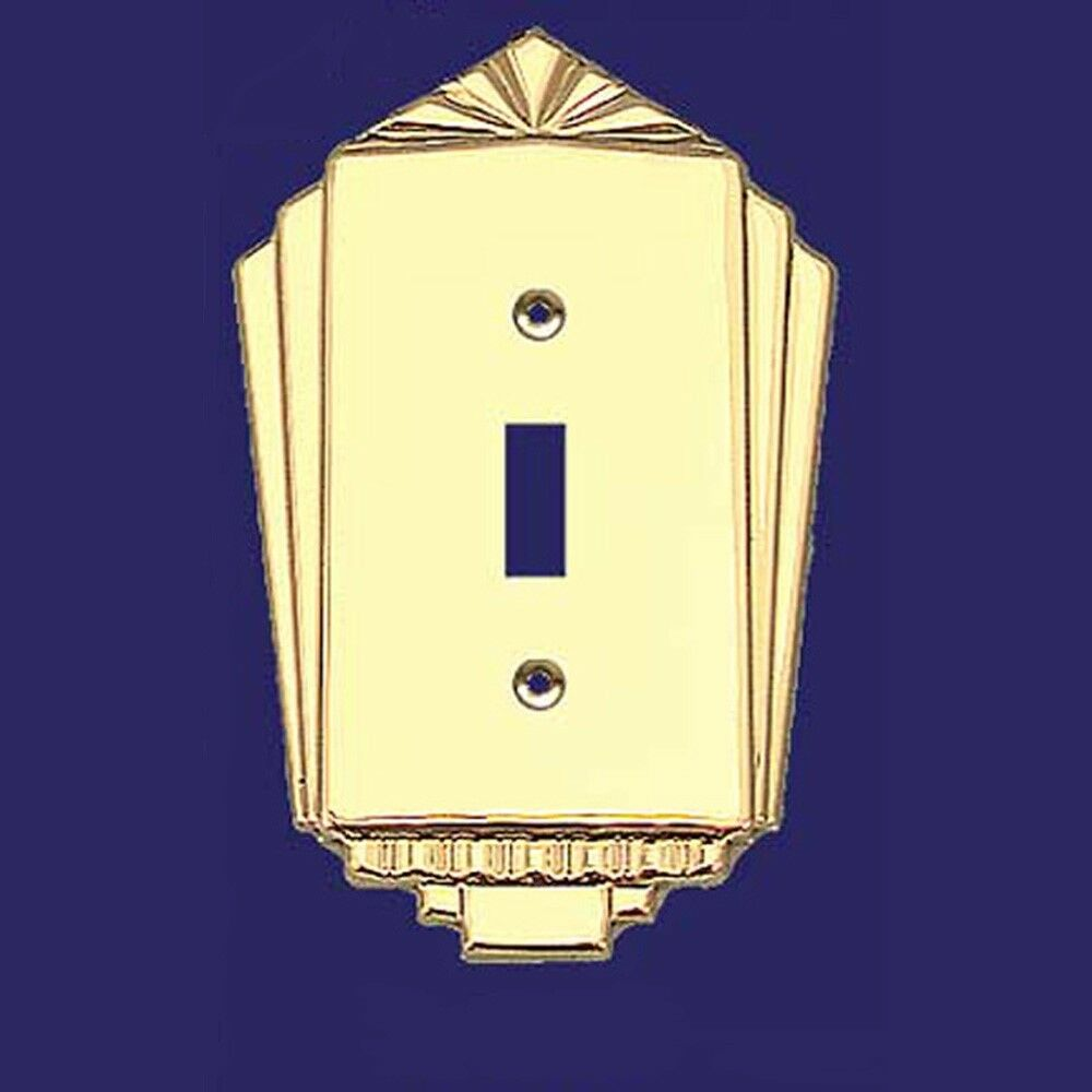1930\'S ANTIQUE STYLE Art Deco Single Gang Toggle Switch Plates ...