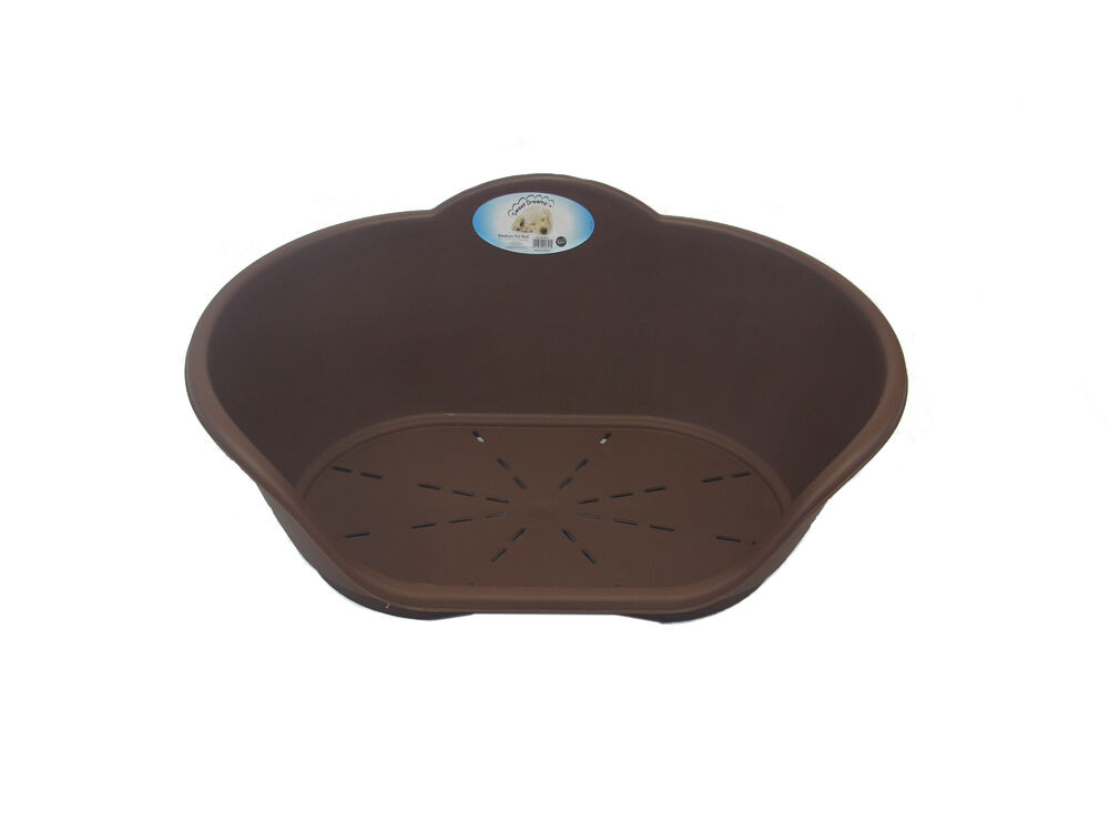 Heavy Duty Plastic Brown Pet Bed Dog Cat Beds Basket For Cats & Dogs Pets