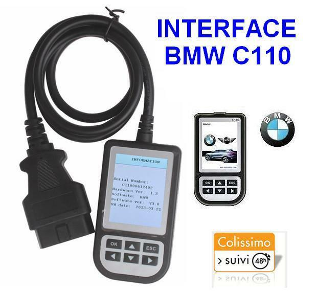 scanner c110 bmw interface valise diagnostic diagnostique obd obd2 obdii diag eur 64 90. Black Bedroom Furniture Sets. Home Design Ideas
