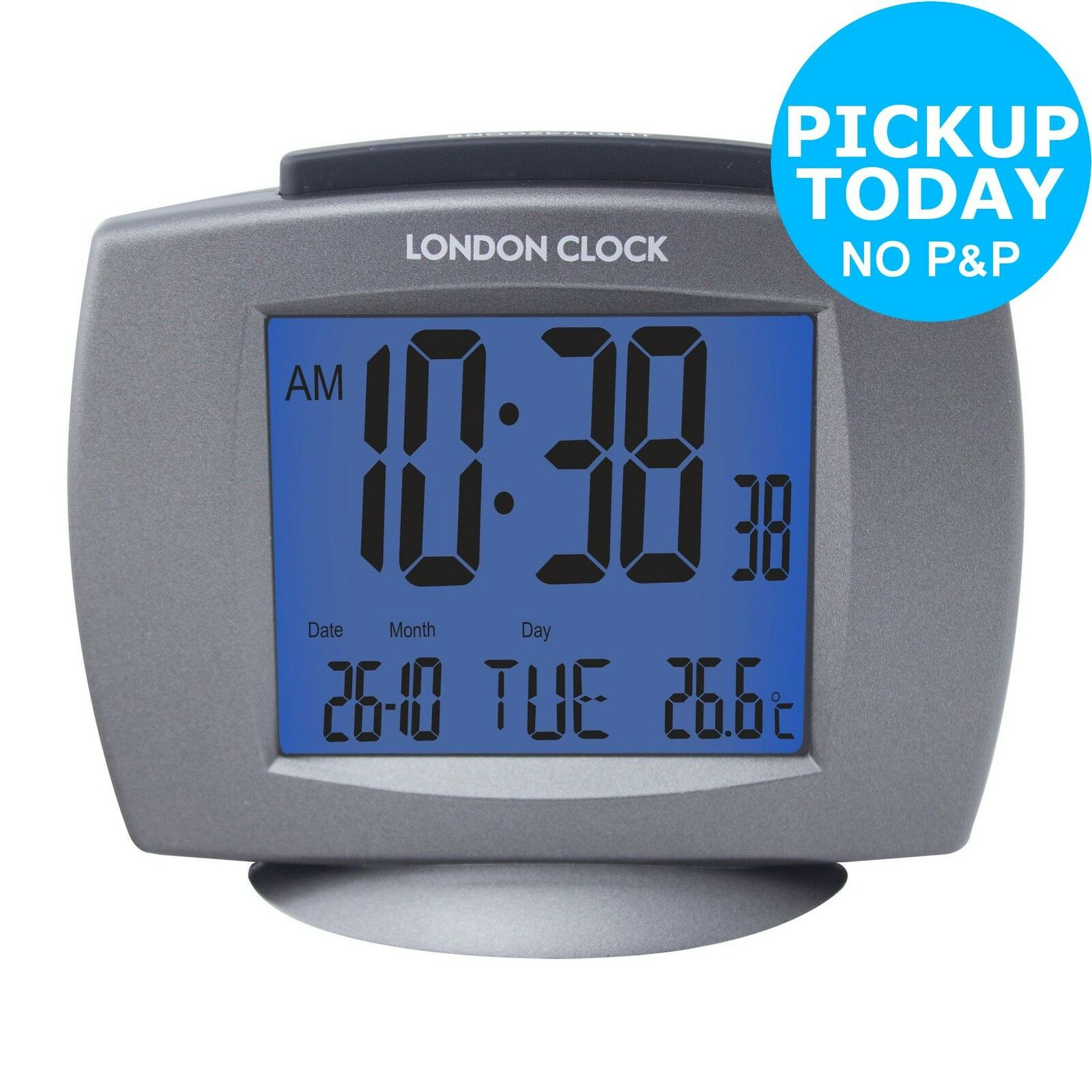 lc radio controlled day and date alarm clock from the argos shop on ebay picclick uk. Black Bedroom Furniture Sets. Home Design Ideas