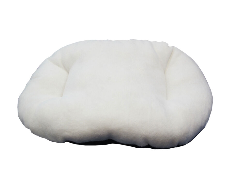 New!!! Small Cream Fleece Dog /  Cat Bed Cushion To Put In Bottom Of Basket