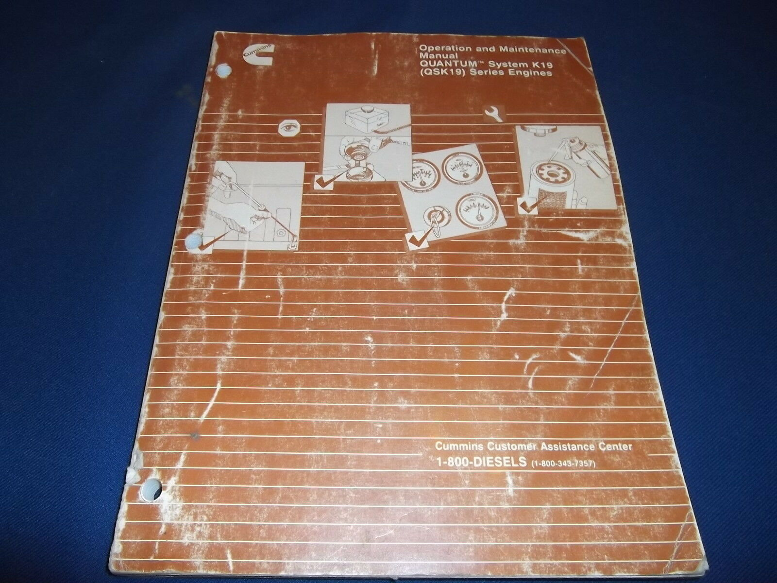 """Cummins """"quantum"""" Qsk19 Engine Operation & Maintenance Book Manual 1 of  4Only 2 available ..."""