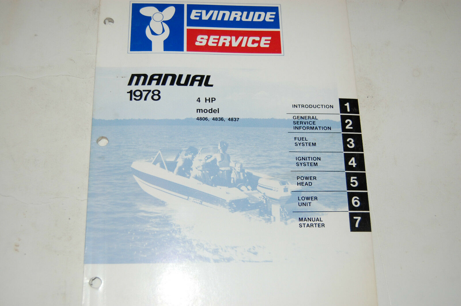 1978 evinrude outboard service manual hp 4 model 4806 4836 4836 omc # 5392  1 of 3Only 1 available ...