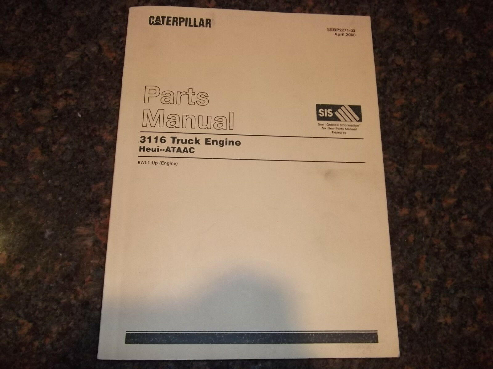 Cat Caterpillar 3116 Truck Engine Parts Book Manual S/n 8Wl1-Up 1 of 3Only  1 available ...