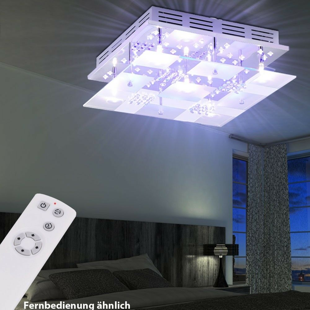decken lampe led effektbeleuchtung blau wei leuchte fernbedienung wohnzimmer eur 59 90. Black Bedroom Furniture Sets. Home Design Ideas
