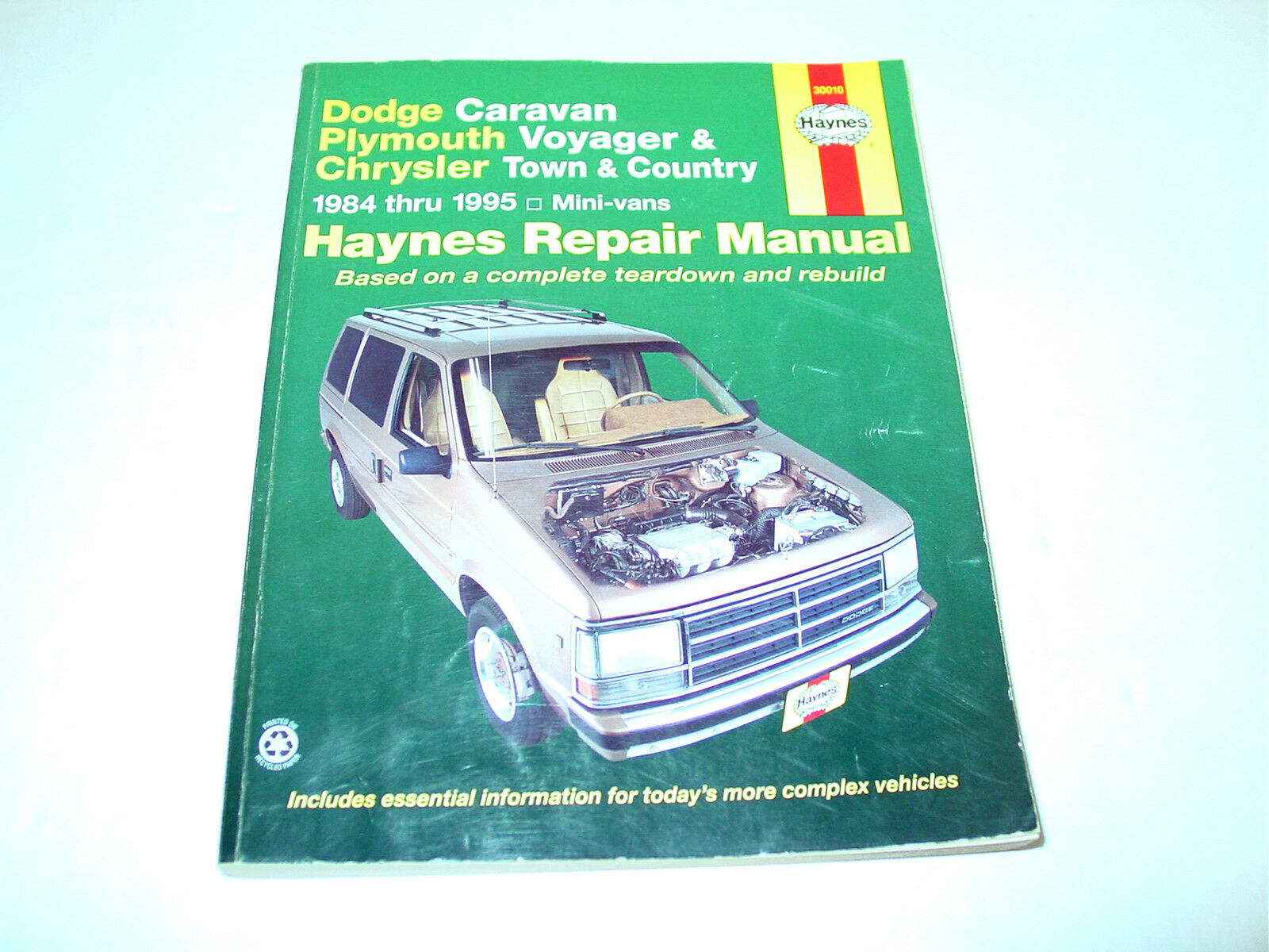 Haynes Repair Manual Dodge Caravan Plymouth Voyager, Chrysler Town Country  84-95 1 of 1Only 1 available ...