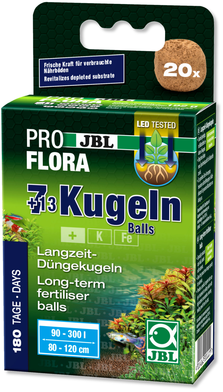 JBL The 7+13 Balls- root fertiliser planted tank nutrient iron mineral substrate