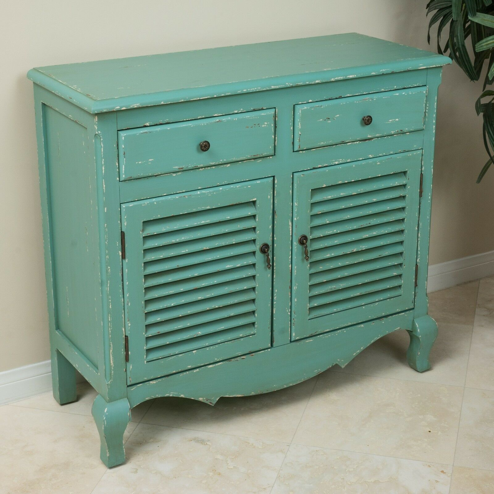 shabby chic inspired antique teal green weathered wood storage shutter cabinet. Black Bedroom Furniture Sets. Home Design Ideas