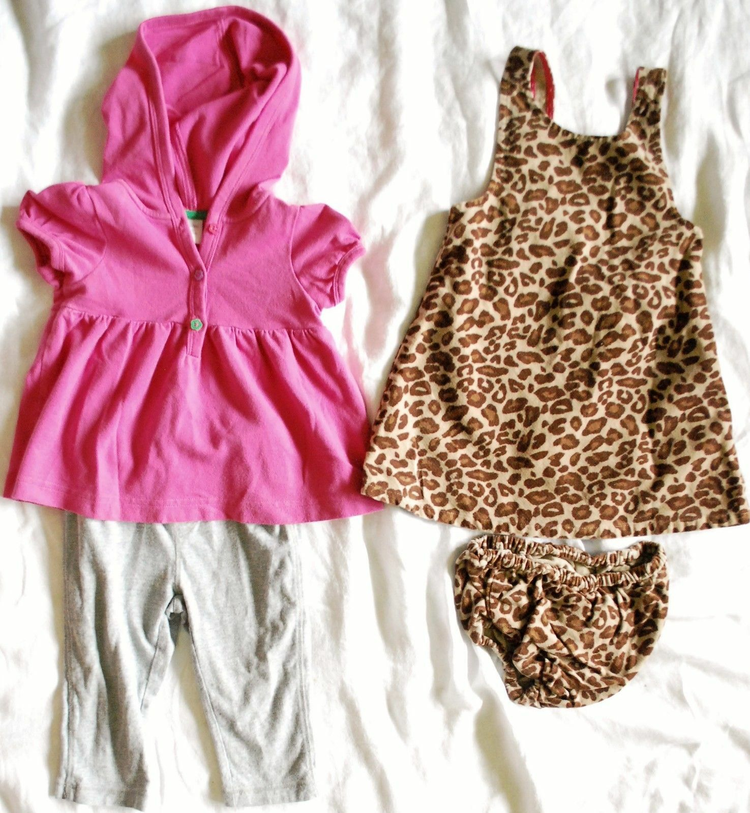 2 Gymboree Dress 2pc Baby Gap Outfit Girls Size 12 18m Leopard Tutu Flower Pink 0 2th 1 Of 8only Available See More