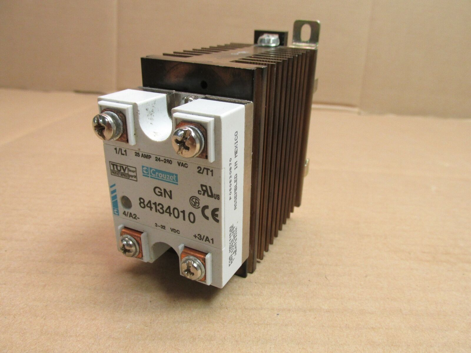 Crouzet Gn 84134010 Solid State Relay 25 Amp 24 280 Vac 3 32 Vdc Canada 1 Of 4only Available