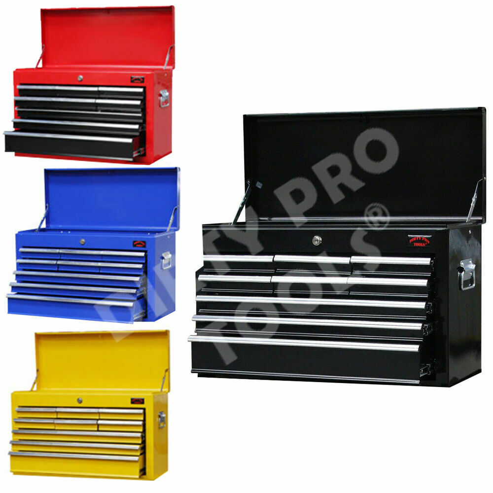 large hardwearing 9 drawer tool box lock / ball bearing slides