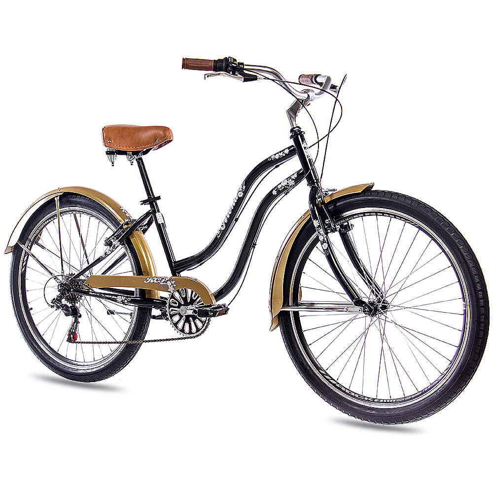 26 zoll beachcruiser damenrad fahrrad kcp aloha 2 0 mit 6g shimano schwarz gold eur 219 90. Black Bedroom Furniture Sets. Home Design Ideas