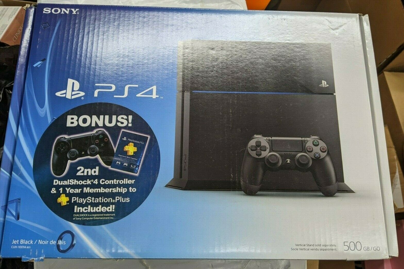 New Ps4 Sony Playstation 4 500 Gb Jet Black Launch Console Bundle Slim 2006 Game Fifa 17 1 Of 2only 5 Available