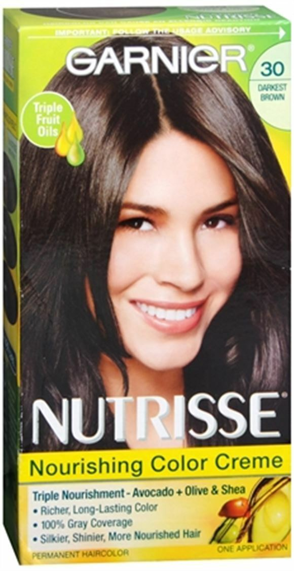 Garnier Nutrisse Haircolor 30 Sweet Cola Soft Black 1 Each